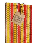 Fairtrade bamboe placemat geel oranje