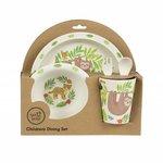 Bamboe kinderservies geschenkset met Treetop Friends print van Sass Belle - GreenPicnic