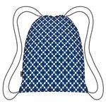 Ecozz opvouwbare rugzak van gerecycled plastic blue squares