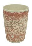 Zuperzozial roze bamboe zip cup  beker DNA