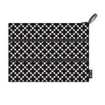 Ecozz zwart witte zip bag etui met 3 vakken van gerecycled plastic