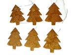 Imbarro papieren kerstboom hanger gold tree ornament