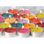 Fairtrade Waxinelichtjes kleur, 20 assorti in zak