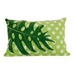 Imbarro cushion dot green, sierkussen groen