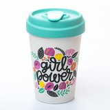 Bamboocup Girlpower coffee to go beker
