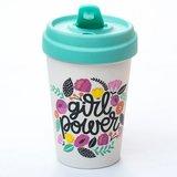 Bamboocup Girlpower koffie to go beker