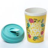 Bamboocup Yes You Can coffee to go beker met bamboe deksel