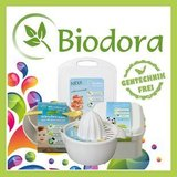 Biodora logo bioplastic