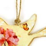 Blikken vogel hangers versiering