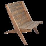 EcoFurn Granny Chair pine brown bruin geolied dennenhout eco tuinstoel bij GreenPicnic
