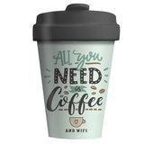 BambooCup All You Need Is Coffee and WIFI verkrijgbaar bij GreenPicnic
