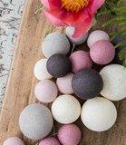 GreenPicnic Cotton Ball Lights roze lichtslinger diverse maten