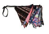Fairtrade vlaggenlijn slinger van gerecycled batik Greenpicnic