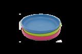 Ajaa plate blue, pink en lime van duurzaam bioplastic GreenPicnic