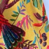 Imbarro rib shopper van velours katoen met exotische paradijs print