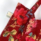 Soepele katoenen shopper met luxe print van Imbarro, rood