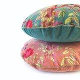 Imbarro rond sierkussen van Imbarro paradise Rib Green en Old Pink
