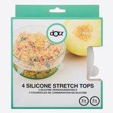Rekbare afsluitdeksels van voedselveilig silicone - fruit bewaren en afdekken schalen