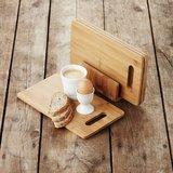 Set bamboe ontbijtplankjes met houder van Point Virgule - duurzaam gedekte tafel