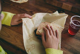 Bees Wrap boterhammen in sandwich wraps lunchverpakking
