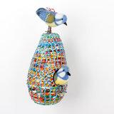 Sjaal met Verhaal fairtrade vogeltjes van vilt - GreenPicnic