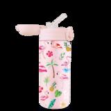 Dubbelwandige drinkfles van Izy Bottles KIDS met drinkrietje