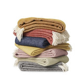 GreenPicnic - Chevron serie lamswollen dekens van Klippan