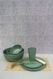 Zuperzozial Rosemary Green C-PLA servies van bio plastic, GreenPicnic