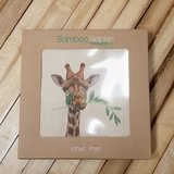 Bamboe servetten met Giraf bij Greenpicnic