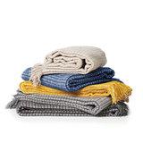 Stapel dekens van Klippan bij GreenPicnic