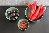 Donkergroen servies van natuurlijk materiaal - Zuperzozial Boost Bowl Rosemary Green