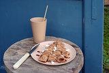 Klein toffeebruin ontbijtbord van natuurlijke materialen - Zuperzozial Toffee Brown
