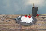 Mokkabruin dinerbord van natuurlijke materialen - Zuperzozial Mocha Brown