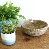 GreenPicnic - Ronde seagrass mand, gemaakt in Bangladesh