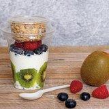 PLA yoghurt beker met CPLA dessertlepel Greenpicnic