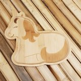 GreenPicnic - Bamboo plate unicorn van Sass en Belle