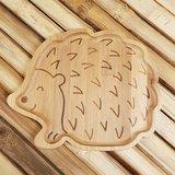 GreenPicnic - Bamboo plate Hedgehog van Sass en Belle