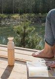 Zandkleurige Dopper waterfles Greenpicnic
