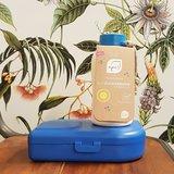 Ajaa PLA bioplastic lunchbox en fles in blauw Greenpicnic