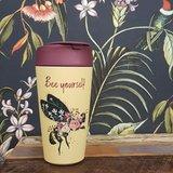 Bee yourself koffiebeker van PLA bij Greenpicnic