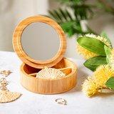 GreenPicnic - Bamboehouten sieradendoosje met spiegel van Sass and Belle