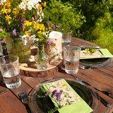 GreenPicnic duurzame servetten van gerecycled papier - Herbal Meadow print