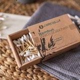 Pak van 200 wattenstaafjes van Chinchilla, gemaakt van duurzaam bamboe
