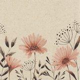 Natuurvriendelijke servetten met bloemen, ongebleekt en FSC-gecertificeerd