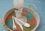 green picnic, pcla bestek, biologisch afbreekbaar, mes, lepel, vork, fairtrade, dienblad
