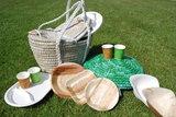 Green Picnic, biologisch afbreekbaar, wegwerpservies voor een duurzame picknick of barbecue