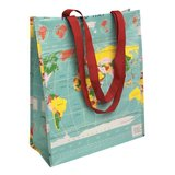 Vintage world shopper van gerecycled plastic