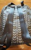 Fairtrade rugzakje van gecoat canvas Grey Leaves