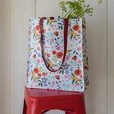 Tas met bloemenprint van gerecycled plastic