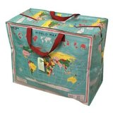 Vintage world map jumbo shoppingbag Rpet